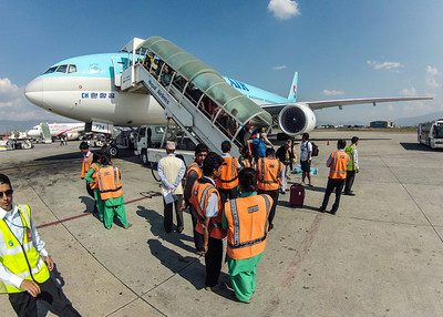 Arriving in Kathmandu from Incheon, Friday, 26OCT, 2012.