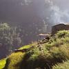 Approaching Syabru village.