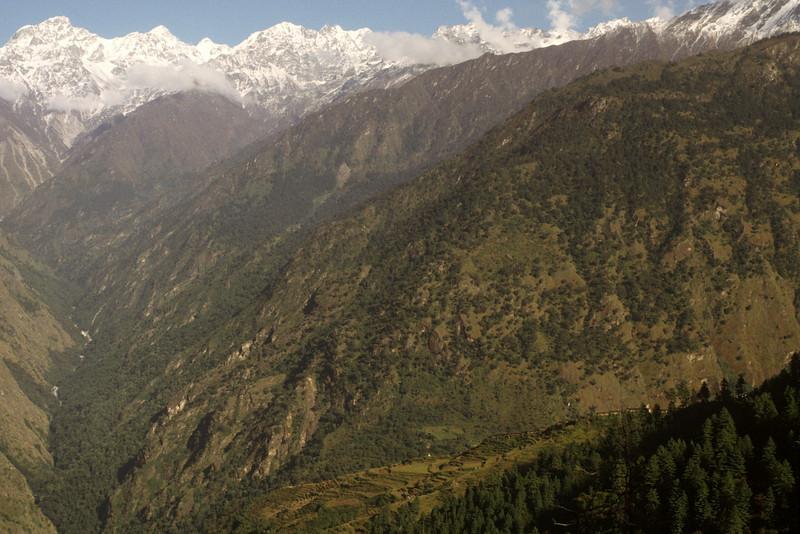 Langtang valley as seen from Syabru