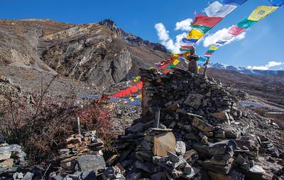 Chorten (stupa)—Chumig Gyatsa Temple, Muktinath, Nepal.