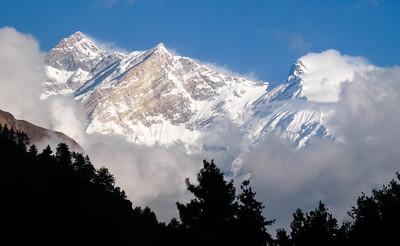 View of Annapurnas from Lete, Nepal