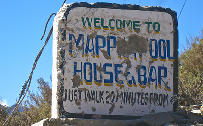 A well worn sign. Mustang Valley, Nepal