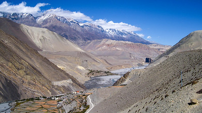 Entering Mustang Valley, from Muktinath, Nepal