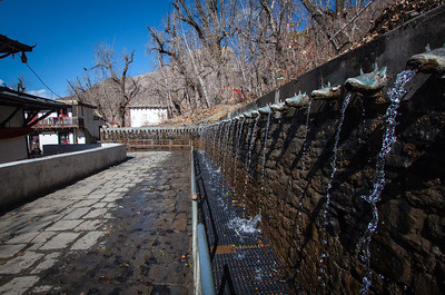 100 water streams—Chumig Gyatsa Temple, Muktinath, Nepal.