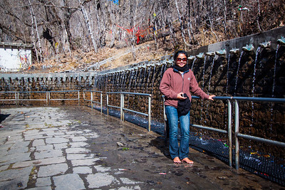 Por at 100 water streams—Chumig Gyatsa Temple, Muktinath, Nepal.