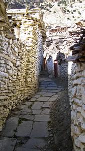 Backstreets of Marpha, Nepal