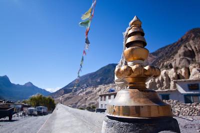 Entering Marpha, Nepal