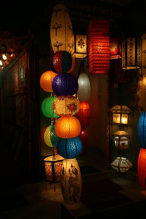 Lampshade shop during the festival of lights.