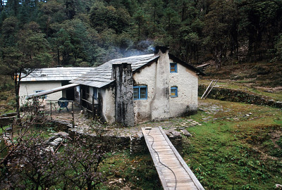 Thodung (10,137 ft).  Yak cheese factory.