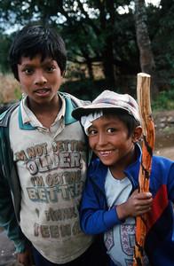 Bhandar (7,218 ft).  Boys.