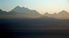 Sunrise, Nagarkot, 26 November 2007 3 - 0645    Dorje Lakpa (6986m, left) and Lonpo Gang (7083m).