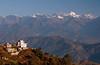 Langtang Himal from east of Nagarkot, 26 November 2007 2   Looking north west to Langtang Lirung (7225m, right).