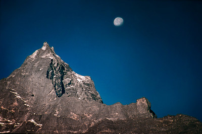 Moonrise over Dole - Himalayas, Nepal 2002.