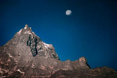 Moonrise over Dole - Himalayas, Nepal 2002.