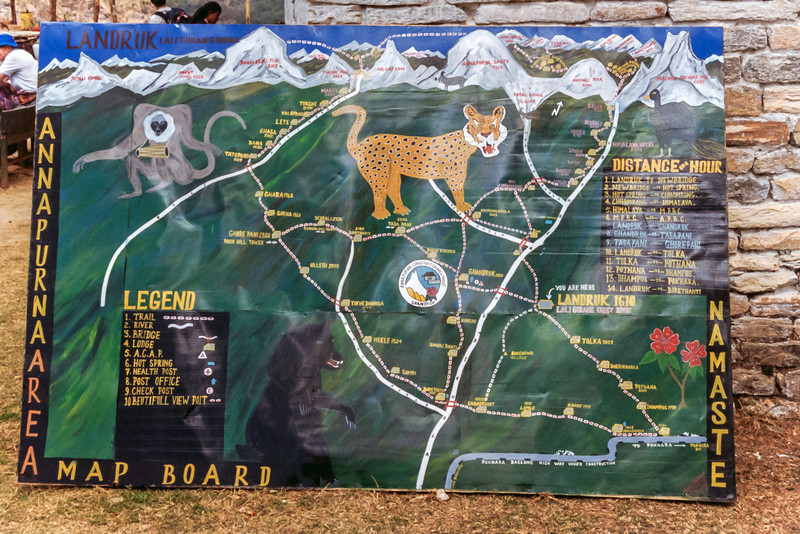 Annapurna Sanctuary Map