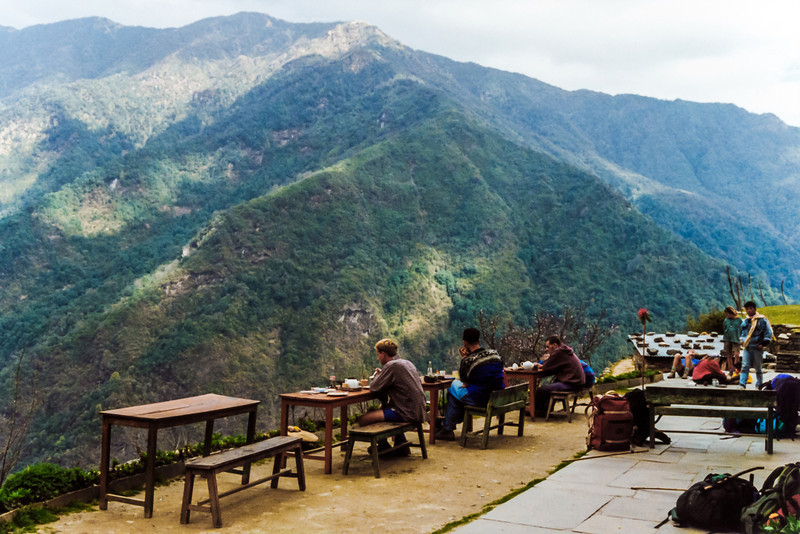 Lunch with stunning hillside views