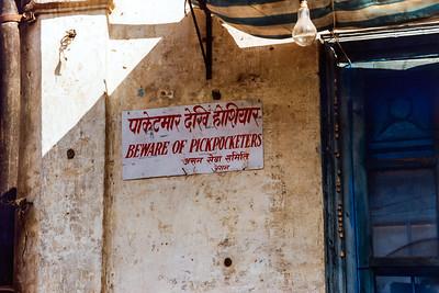 Beware of Pickpocketers, Thamel Kathmandu