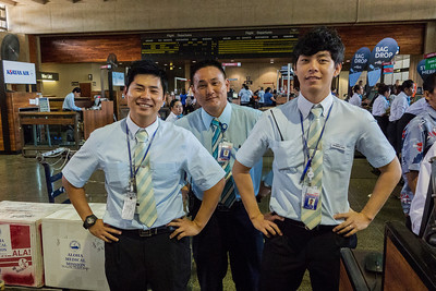 The Great Korean Airline Guys at the Honolulu Airport.