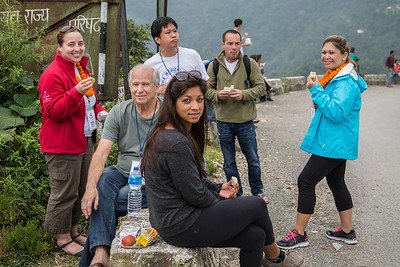 Our lunch break 1 1/2 hours on the road to Dhankuta.