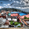 Dhankuta Distract Hospital from the roof of our hotel Suravi (HDR)