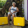 The two Solar Suitcases arrive. Purchased by donations from RevoluSun (arranged by John Cheeer) and Elaine Flores of L&L Barbecue. Two addition Suitcases were given to AMM by We Care Solar.