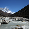 I spent a bit of time by myself down at a river early in the morning. This simply shows the Nuptse Wall, Lhotse and Everest from the river. The water was very cold and I had to do a bit of balancing on rocks to make sure my tripod and camera wouldn't fall in.