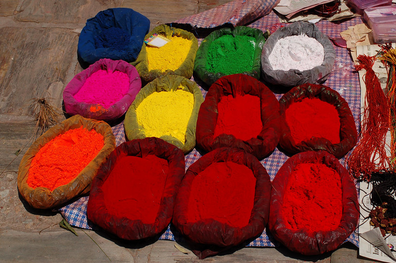 Pashupatinath: Tikka powder for sale outside the temples