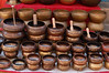 Tibetan singing alms bowls for sale in Durbar Square