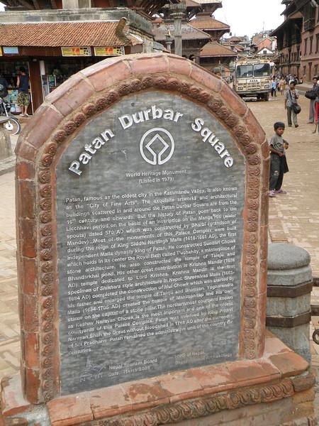 Patan Durbar Square marker