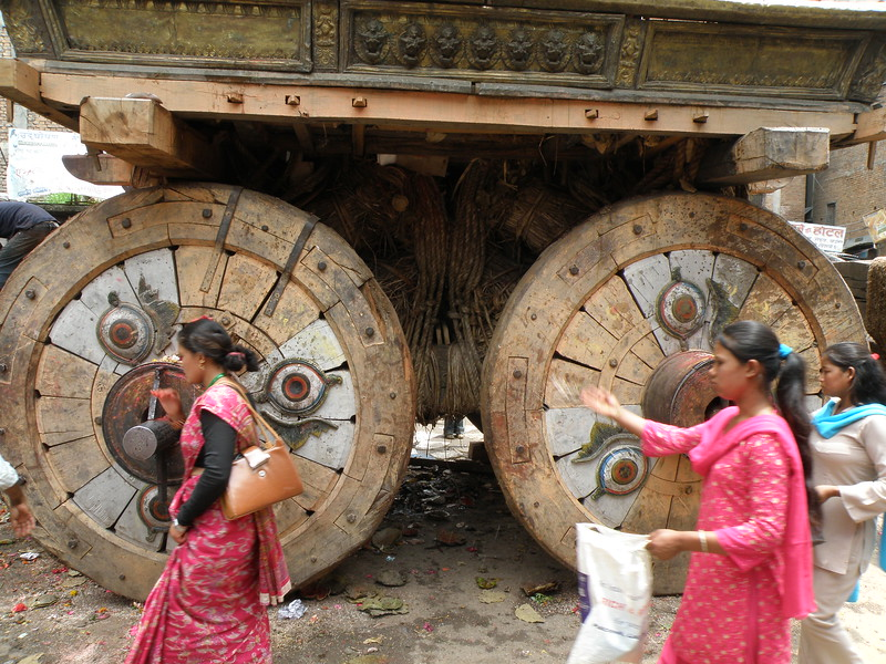 Wheels of the movable temple