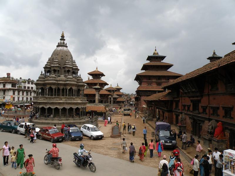 Northeast view down Patan Durbar Square