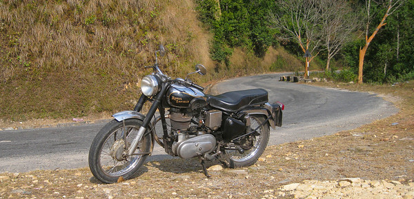 My ride in Pokhara—very nice Royal Enfield