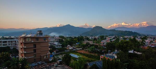 Annapurna range as seen from Pokhara, Nepal