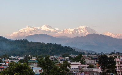 Annapurna range as seen from Pokhara, Nepal