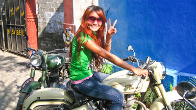 Sapana from Hearts & Tears Motorcycle Club—Pokhara, Nepal