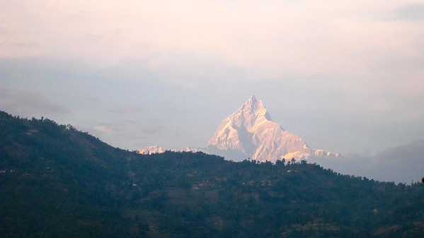 Machhapuchhre (Fish Tail) as seen from Pokhara, Nepal