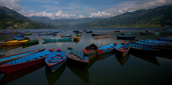 cool boats in Phewa Lake- Pokhara
