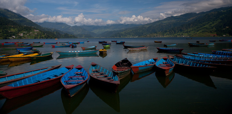 cool boats in Phewa Lake- Pokhara