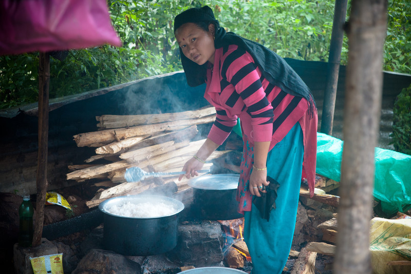 Cooking rice Shreenagar Hill Tansen Palpa