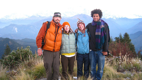 Morning with trail friends on Poon Hill, Nepal