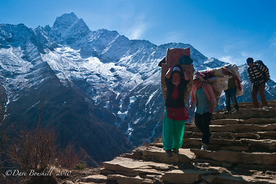 Both men and women Sherpa carry their fair share.