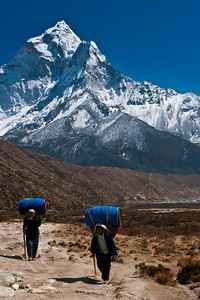 Sherpas carry it all up to Everest Base Camp