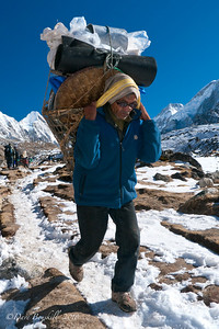 Sunglasses make it easier on the Sherpas eyes up at Everest Base Camp