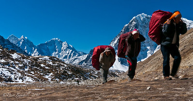 Sherpas work is never done at Everest Base Camp