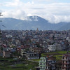 Kathmandu, looking west, with Bouddhanath visible in the distance