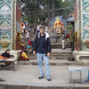 the entrance to Swayambhunath - just a couple hundred steps to go