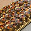 Yak butter prayer candles.