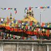 Prayer flags at the Tibetan stupa.