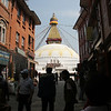 The stupa in Boudha, the area where the Tibetan refugees live.