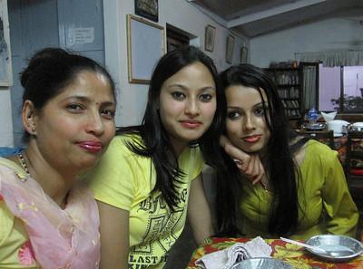 Moona, Prami, and Bindya, staff nurses